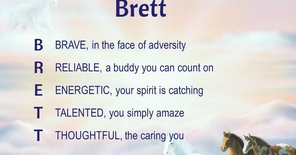 Acrostic name poems for boys brett