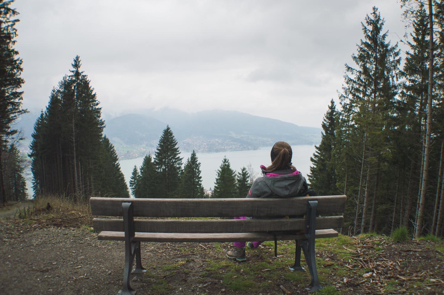 Pfliegeleck peak with a view on lake Tegernsee