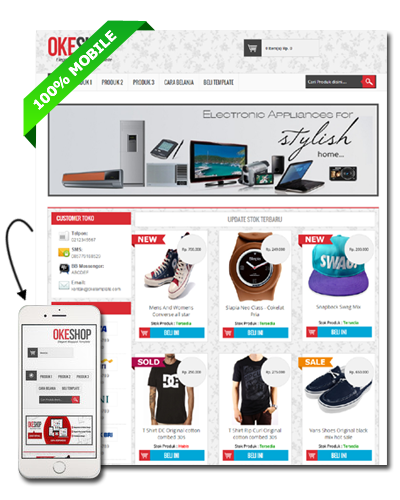 Okeshop premium blogger template droid panda okeshop premium blogger template reheart Image collections