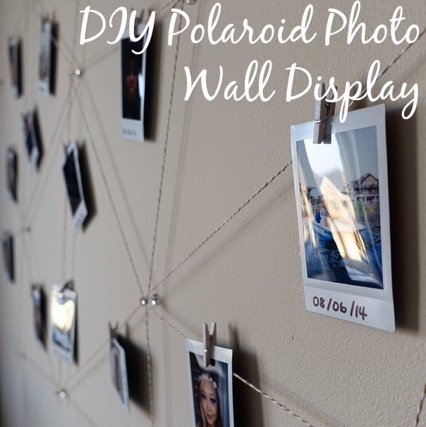 polaroid photo display, polaroid wall display, polaroid wall, photo wall, diy photo wall, diy polaroid wall
