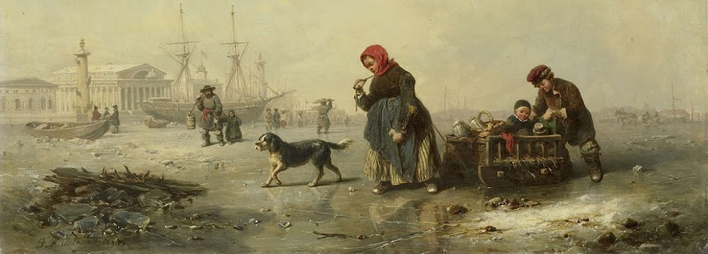 The Neva in St. Petersburg (Leningrad). Winter, 1844