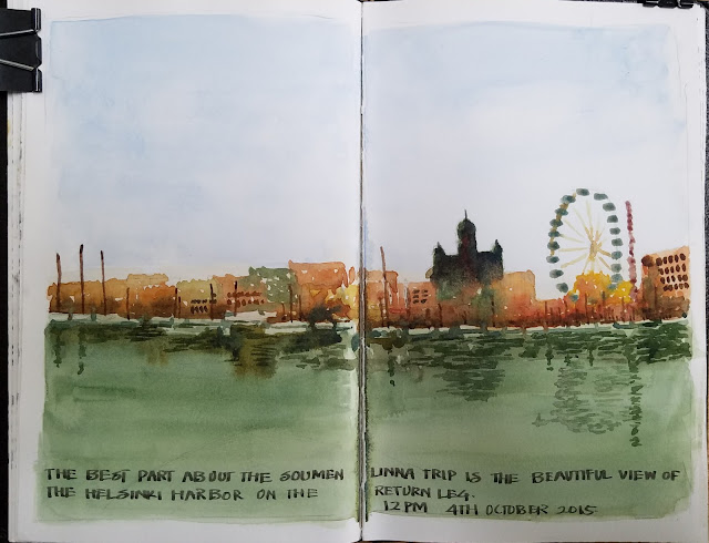 Sunil Shinde Sketches Ot 2015 Helsinki Harbor