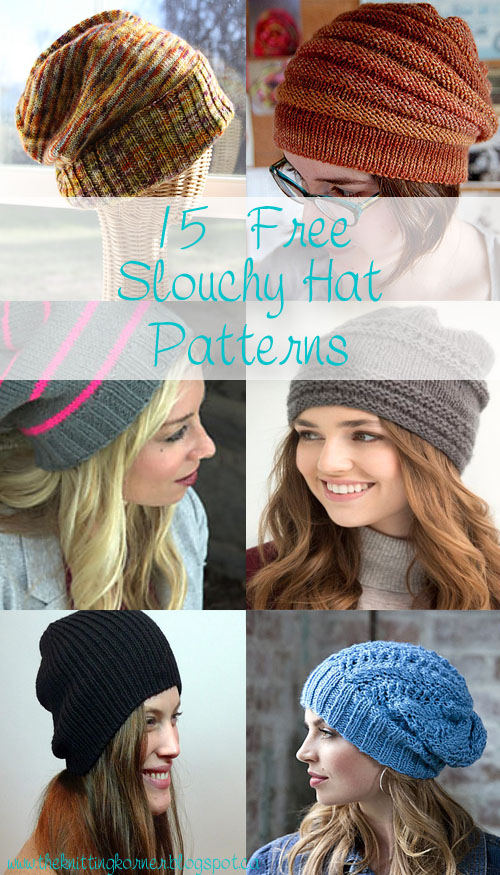 Craftymomma73 15 Free Slouchy Hat Patterns