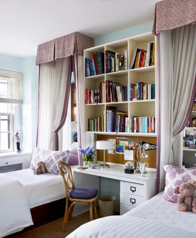 habitación juvenil para hermanas
