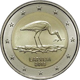 2€ Cigogne 2015 Lettonie