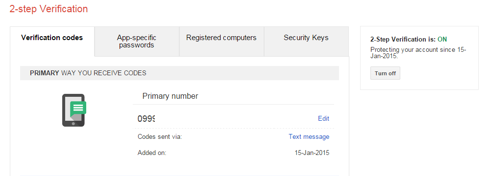 Gmail 2 Step Verification