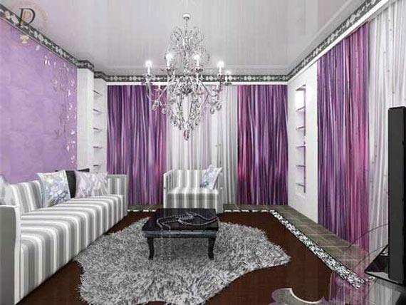 Purple Living Room Ideas: The Elegance Of Purple Living Room Concept