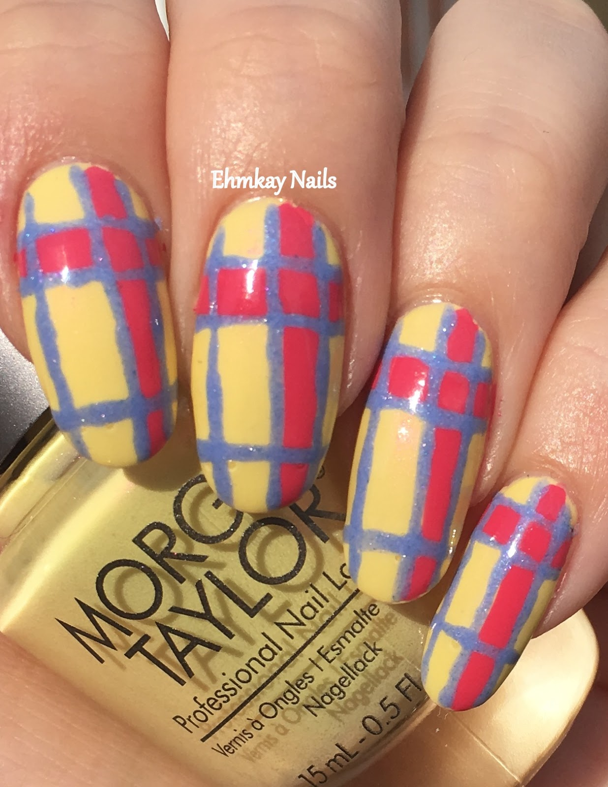 Ehmkay nails easter plaid nail art easter plaid nail art prinsesfo Choice Image