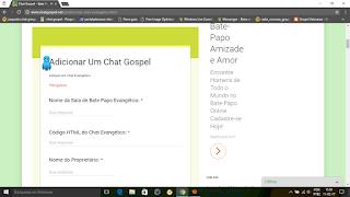 adicionar chat evangelico
