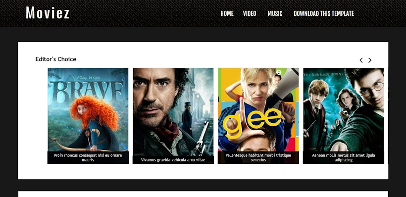 Moviez Free Blogger Template