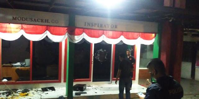 Diduga karena Pemberitaan, Kantor Tabloid Modus Aceh Diserang