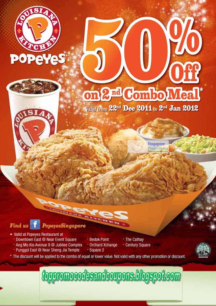 picture relating to Popeye Coupons Printable called Popeyes fowl discount codes march 2019