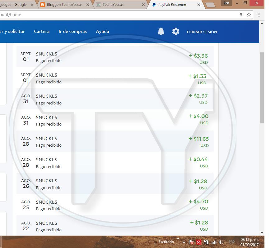 Ganar dinero gratis a Paypal por ver vídeos de Youtube