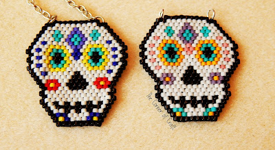 Sugar Skull Brick Stitch Pattern