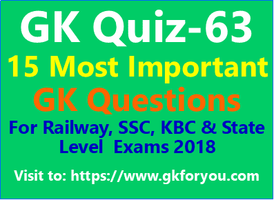 General Knowledge Questions Quiz-63