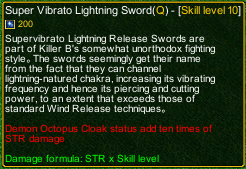 naruto castle defense 6.0 Super Vibrato Lightning Sword detail