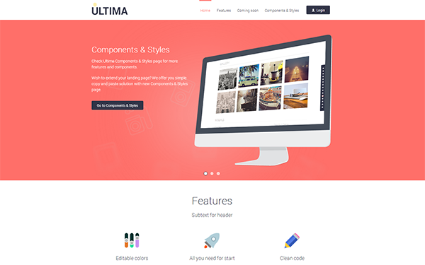 Download ultima awesome flat landing page download bootstrap download ultima awesome flat landing page maxwellsz