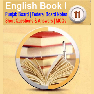 Solved English Punjab Board Federal Board Notes MCQs Short Long Questions