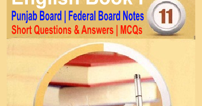1st Year English Book 1 Questions Answers MCQs Notes Download - Easy