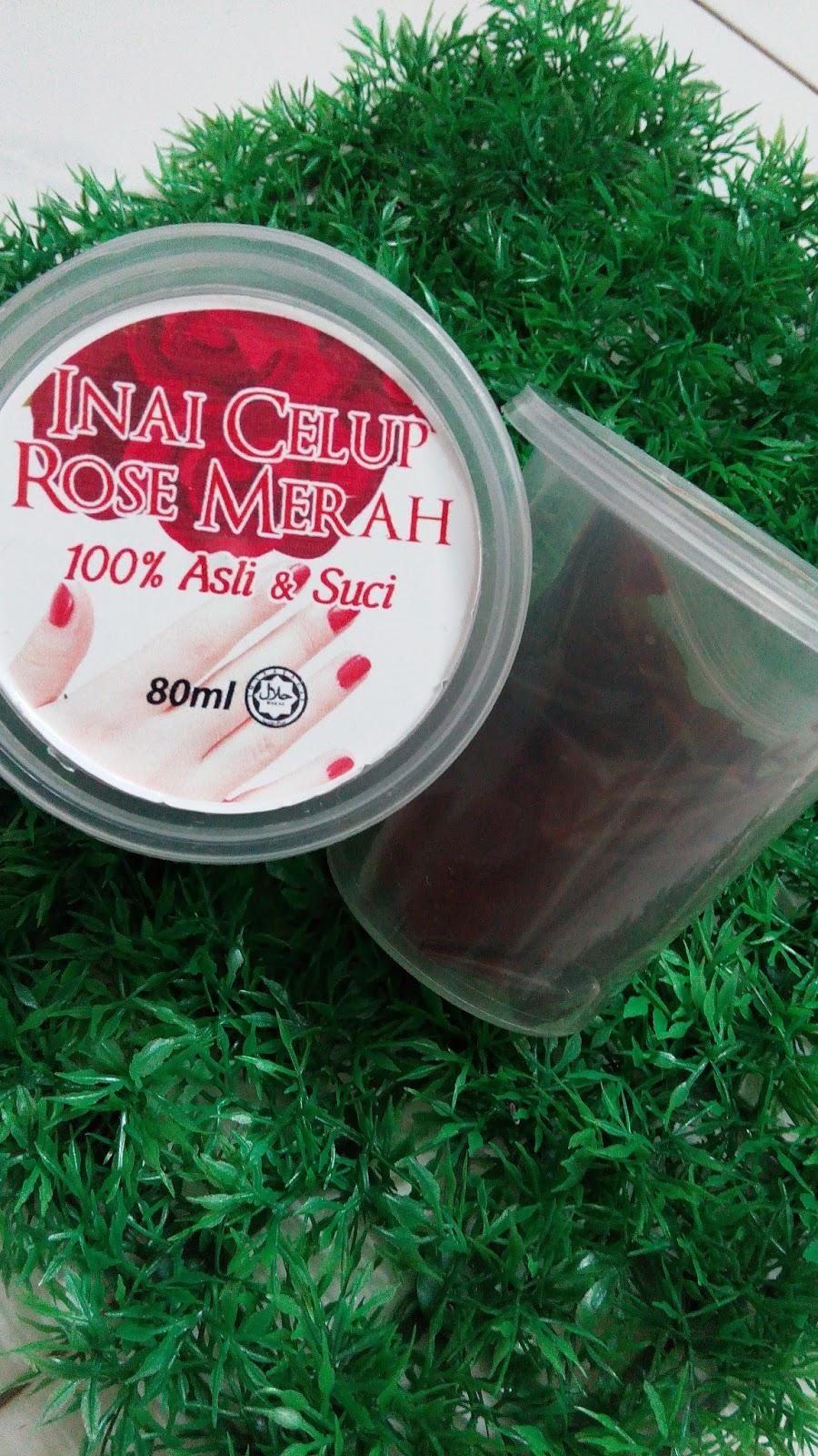 Inai Rose Merah