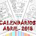 CALENDÁRIO MENSAL DO ALUNO