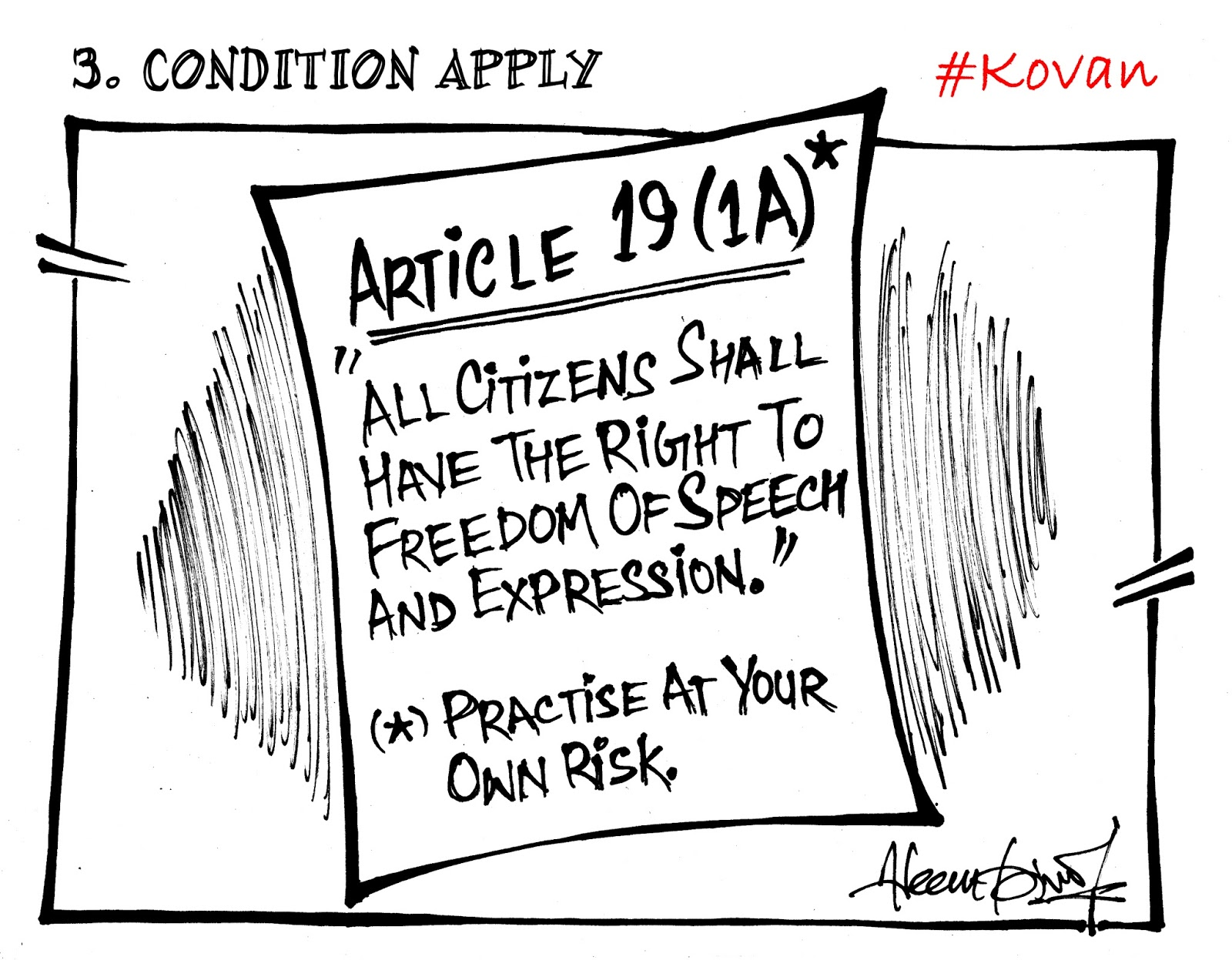10 Cartoons against the sedition charges on Tamil folk