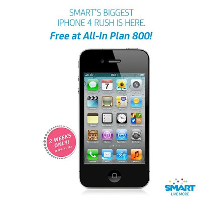 iPhone 4 FREE at Smart All-In Plan 800