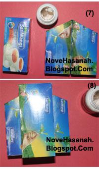 cara membuat atau langkah-langkah pembuatan kotak pensil dari bekas kemasan teh celup dan potongan-potongan ornamen kartu undangan 5