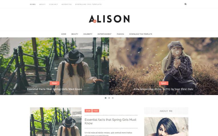 Alison Free Blogger Template