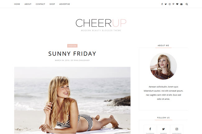 Cheerup – Responsive Minimal Blogger Template