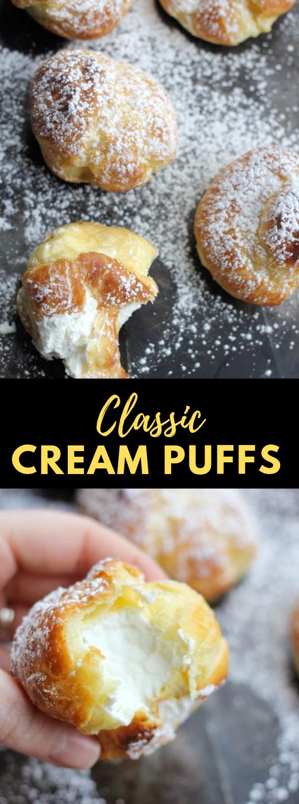 HOW TO MAKE CREAM PUFFS, CLASSIC CREAM PUFFS #Dessert #Pastry