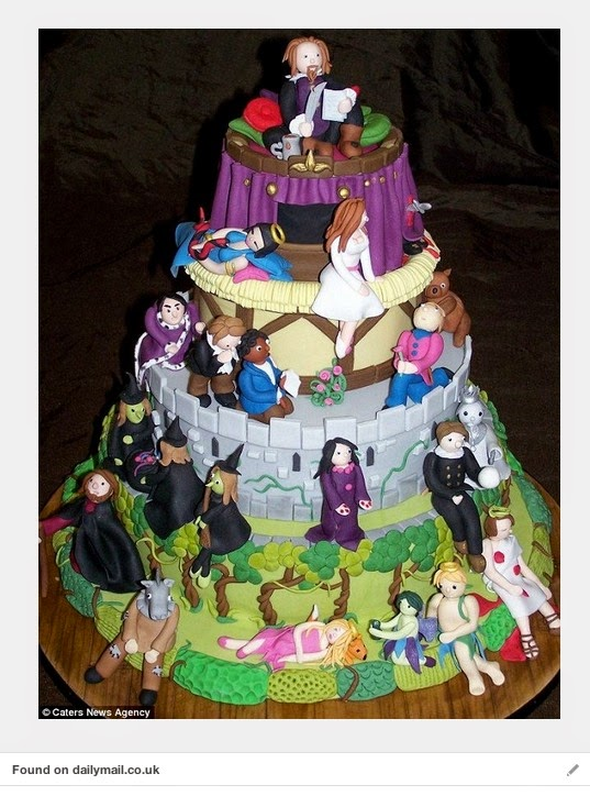 Shakespeare cake (from 10 ways to celebrate Shakespeare's birthday)