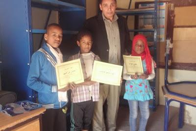 مجموعة مدارس بني علي بزاكورة تحتفي بالأيام العالمية للشعر ، الماء و الأم
