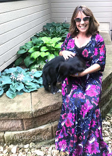 Pattern Review for Vogue 9253 Maxi Dress on Sharon Sews sewing blog