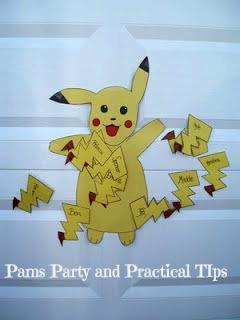 Pokemon Party Games, Pin the Tail on Pikachu
