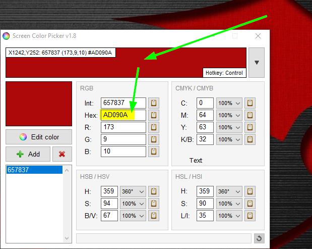 Screen Color Picker 2.0 | Seleccionar y ver código exacto de un color de la pantalla