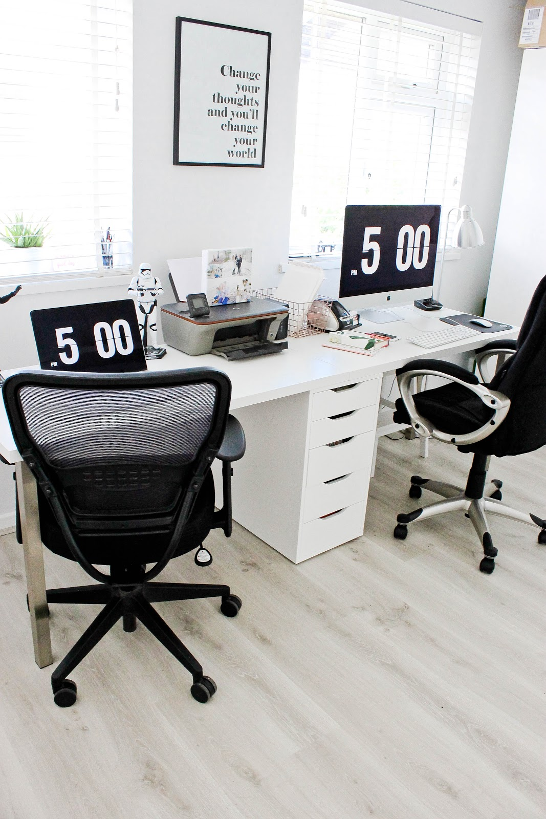 modern office, modern home office, minimal home office,