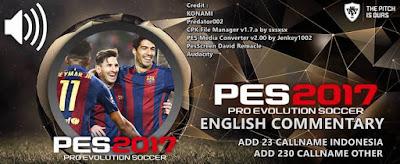 Callname Pack V2 untuk PES 2016 dan PES 2017