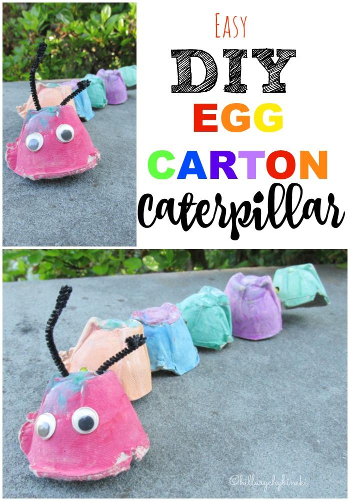 Easy DIY Kids Craft Egg Carton Caterpillar
