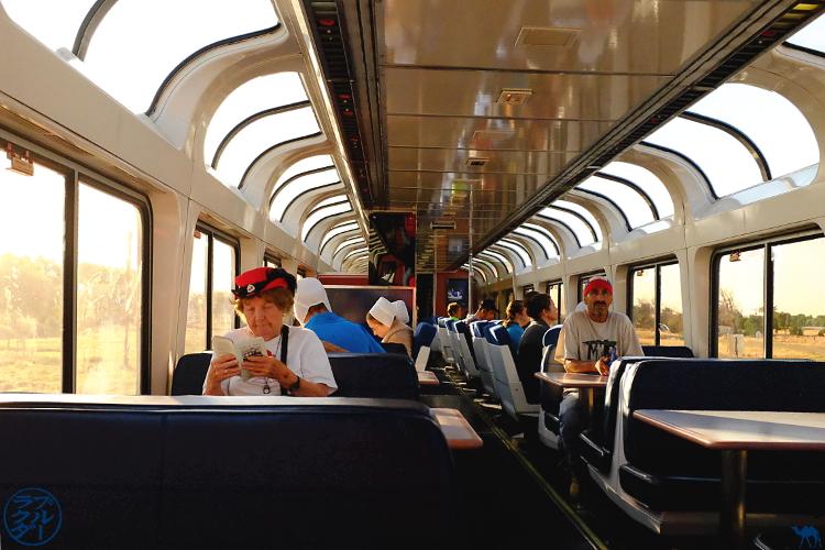 Le Chameau Bleu - Blog Voyage Los Angeles -  Southwest Chief train - Observatory car