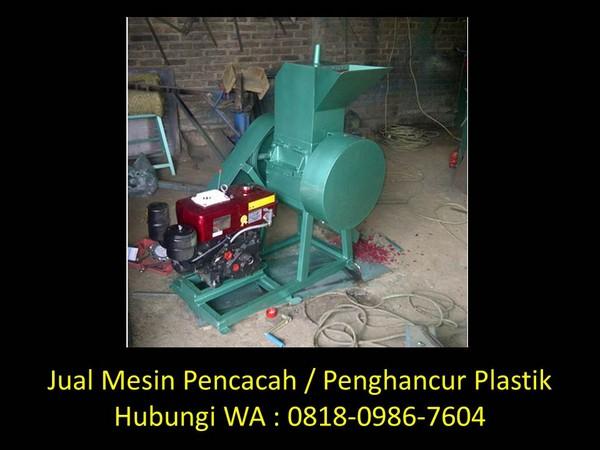 alat pencacah limbah plastik di bandung