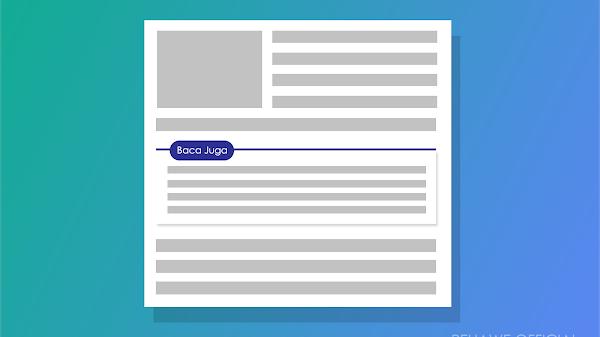 Cara Memasang Artikel Terkait Otomatis di Dalam Postingan Blog