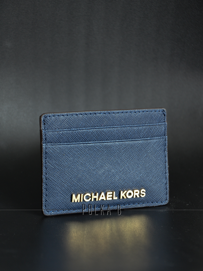 a0318d9eb2c5 Michael Kors Jet Set Travel Card Holder - Navy | Polka B - Authentic ...