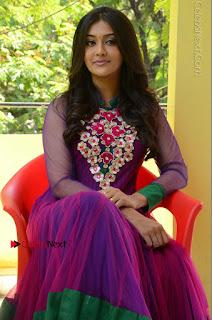 Actress Pooja Jhaveri Latest Stills in Purple Salwar Kameezt at Dwaraka Success Meet  0176.JPG