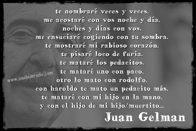 Poema de juan Gelman