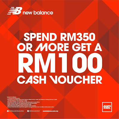 New Balance Shoe Free RM100 Cash Voucher Promo