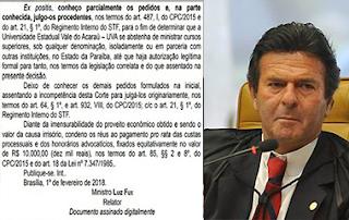 STF suspende atividades de universidade particular na Paraíba
