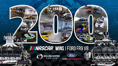 """Anytime a Ford wins is special, but today is even sweeter, winning our 200th with Ford Performance and the Ford FR9 engine.""   Doug Yates #NASCAR"