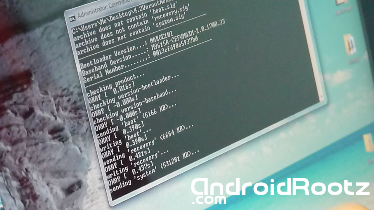 How to Unroot Nexus 4 to Stock 4 2 Jelly Bean on Windows