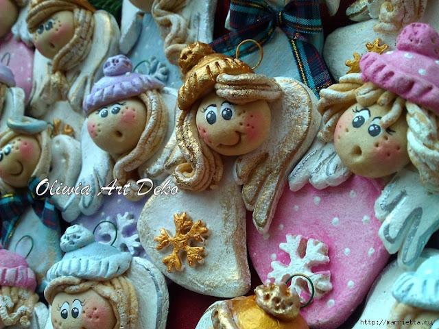 Ангел с колокольчиком и другие... - Мастерим из соленого теста. http://prazdnichnymir.ru/, как делать сувениры из соленого теста, мастер-классы из соленого теста